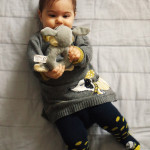 Dressing my baby: wollen dress and polka dots