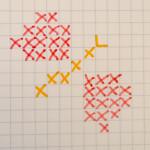 punto croce schemi lumaca